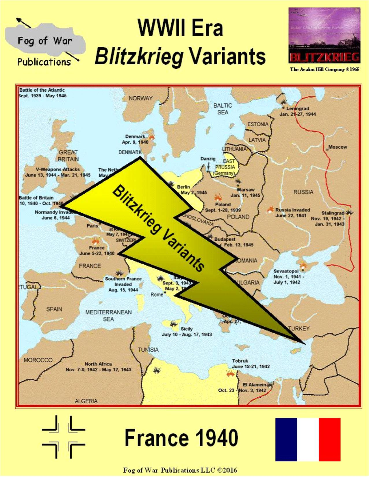 Map Of France 1940.Wwii Blitzkrieg Variant France 1940